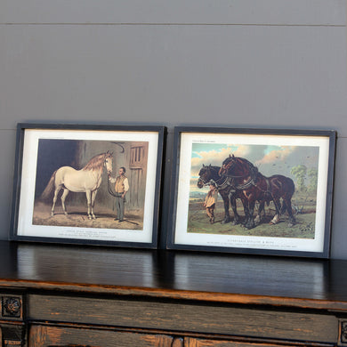 Carriage & Workhorse Prints, Set of 2