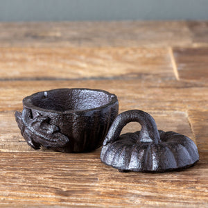 Cast Iron Pumpkin Box Small