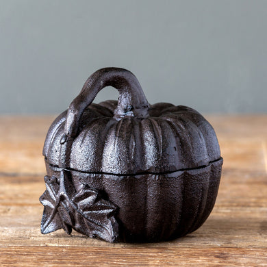 Cast Iron Pumpkin Box Large