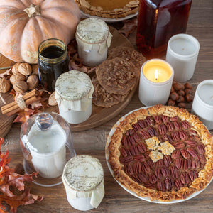 Pecan Pie Candle in Natural Crock
