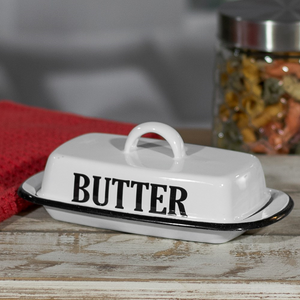 "Enamelware ""Butter"" Dish"