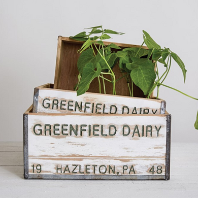 Greenfield Dairy Boxes, Set of 3