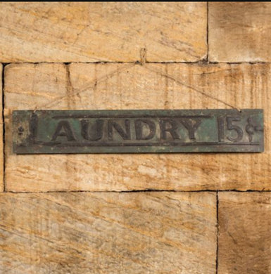 Distressed Tin Laundry Sign