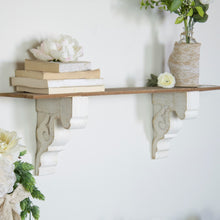 Load image into Gallery viewer, Aged White Corbels, Set of 2