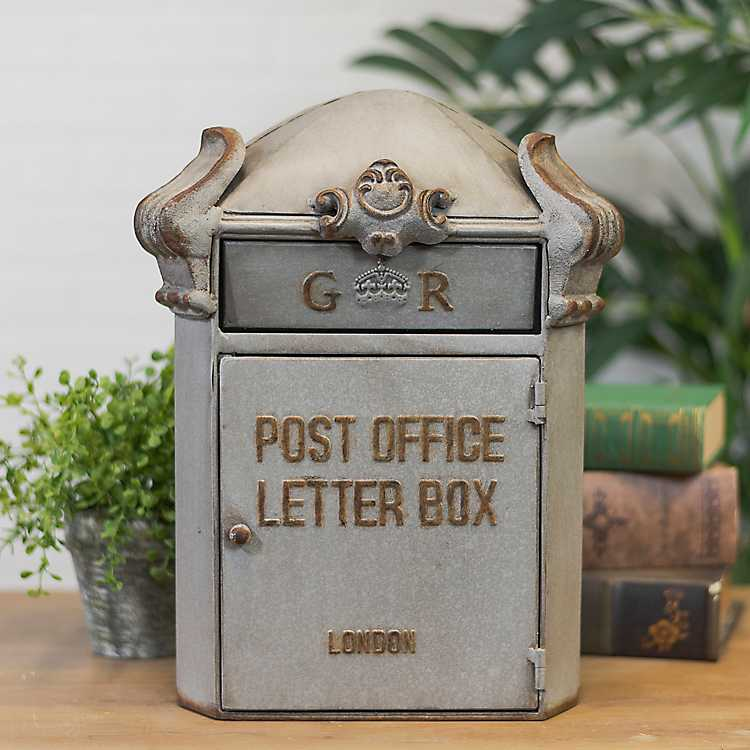 Vintage-Style Metal Letter Box