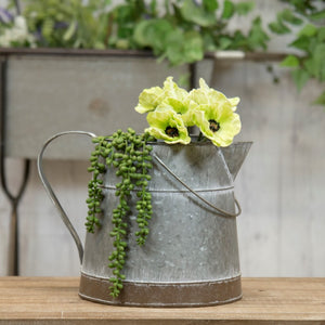 Aged Metal Bucket w/ Handle