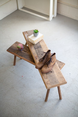 Primitive Reclaimed Wood Benches