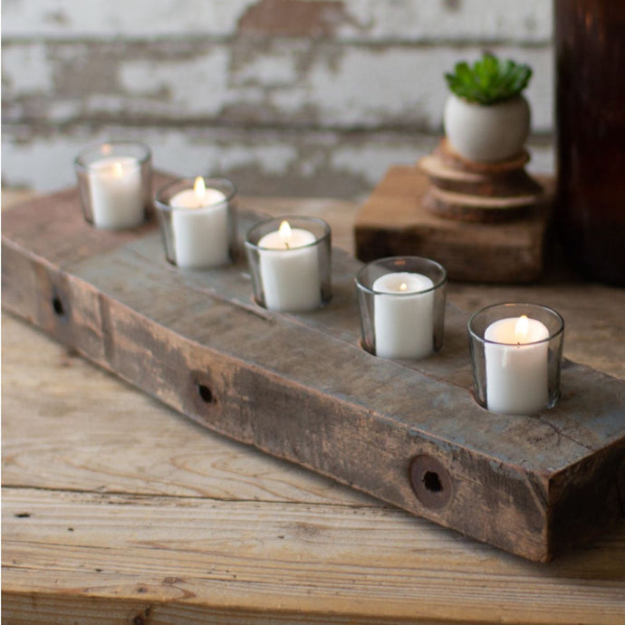 Wood Beam Votive Holder