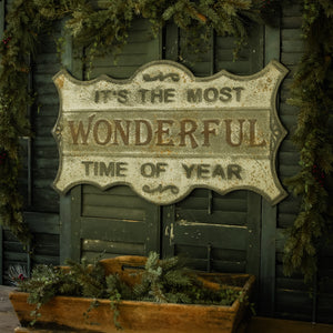 Old-World Most Wonderful Time Sign