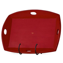 Load image into Gallery viewer, Oversized Mahogany Tray Deep Red