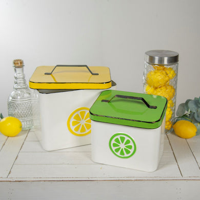 Lemon & Lime Metal Boxes