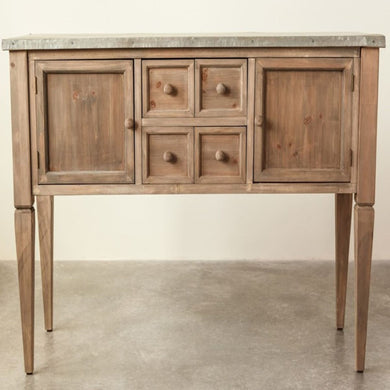 Metal Top Sideboard