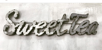 Cursive Sweet Tea Sign