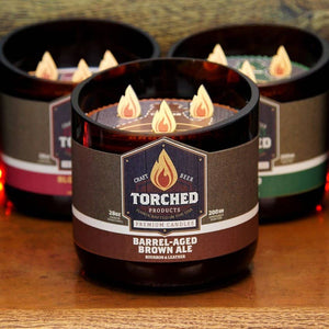 Torched Growler Candle Barrel-Aged Brown Ale