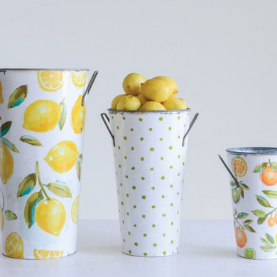 Lemon Buckets w/ Handles, Set of 3