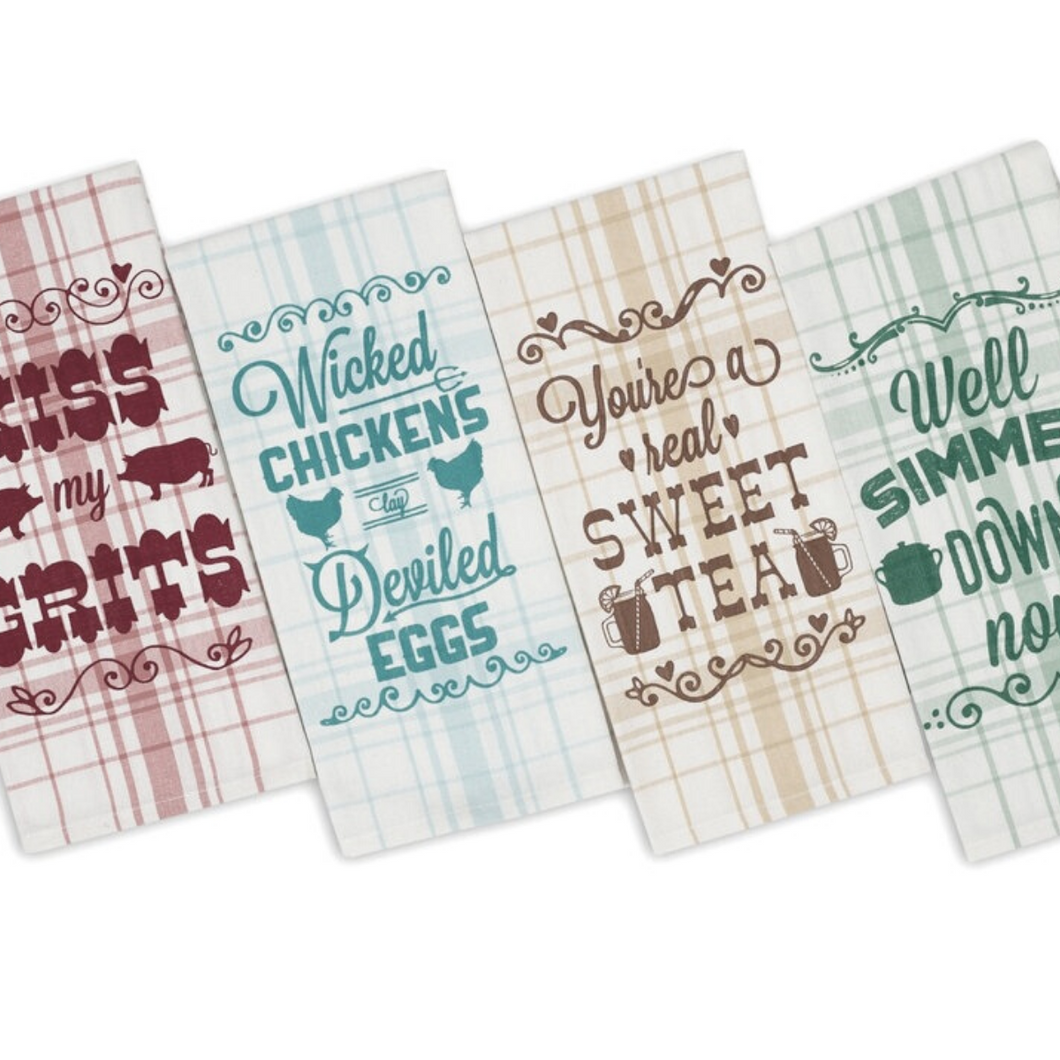 Southern Sass Dishtowel, Set of 4