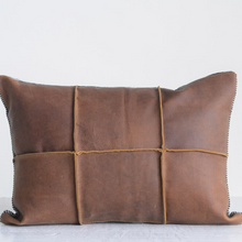 Load image into Gallery viewer, Saddle Leather Pillow