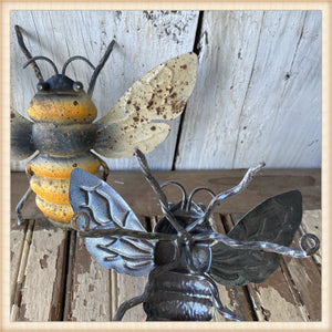 Aged Metal Bees