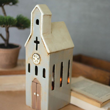 Load image into Gallery viewer, Ceramic Church Night Light