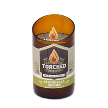 Load image into Gallery viewer, Torched Beer Bottle Candle Citronella Saison