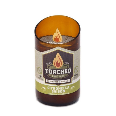 Torched Beer Bottle Candle Citronella Saison