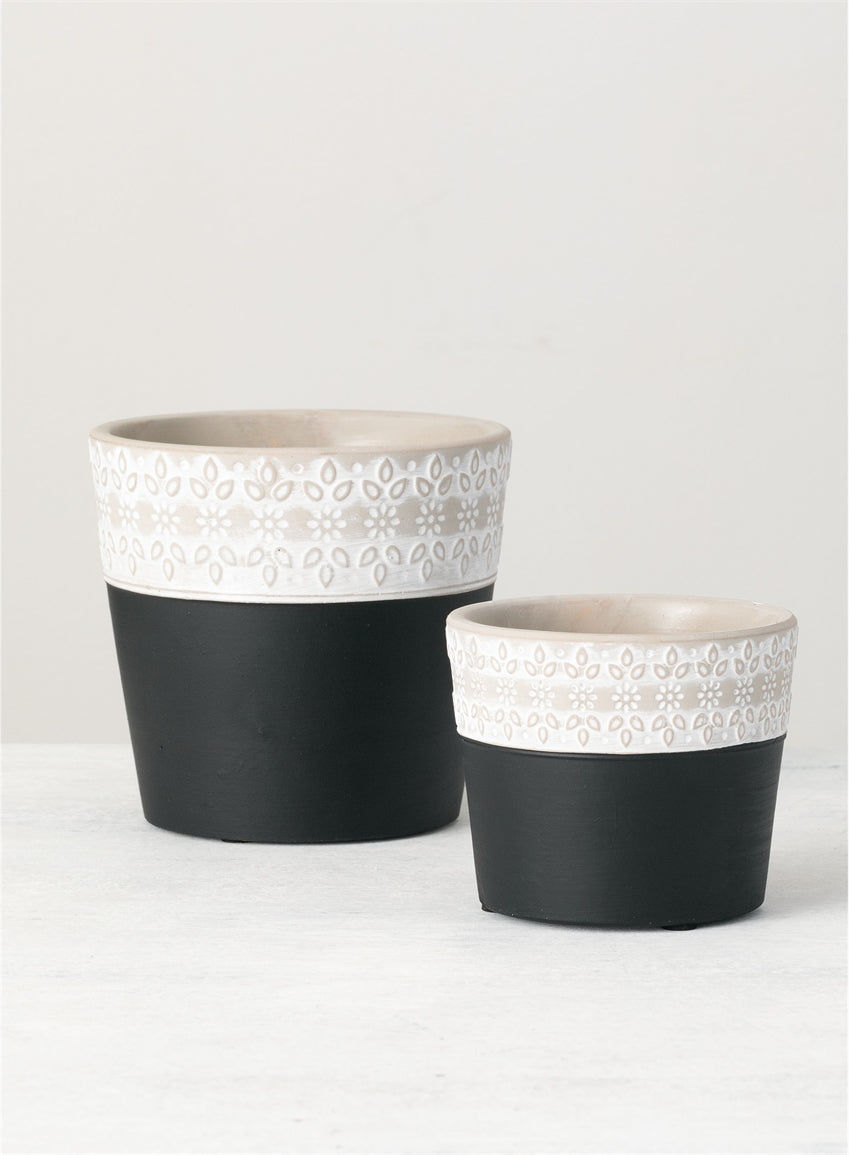 Two Toned Flower Pots