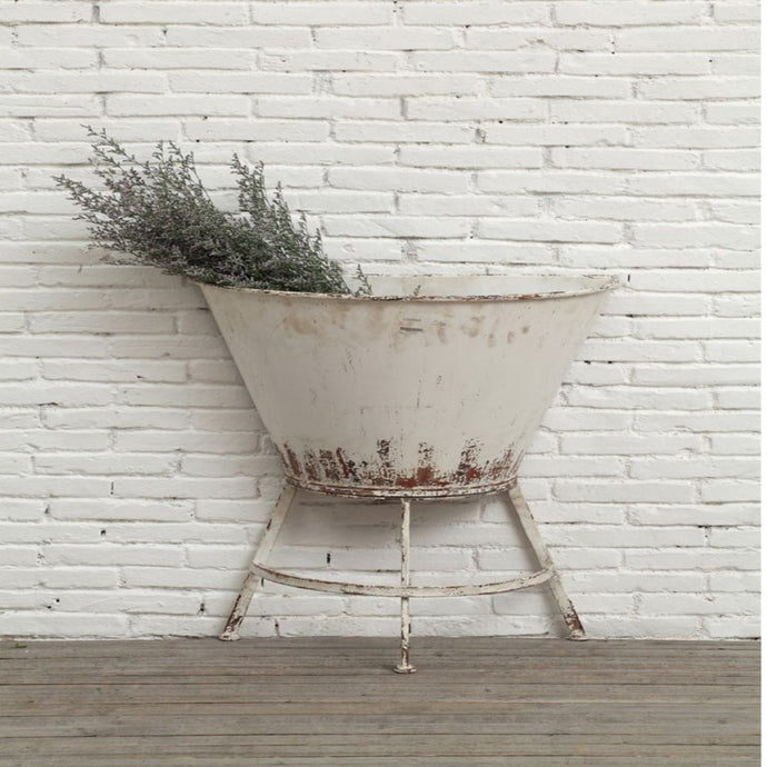 Half Wall Planter On Stand