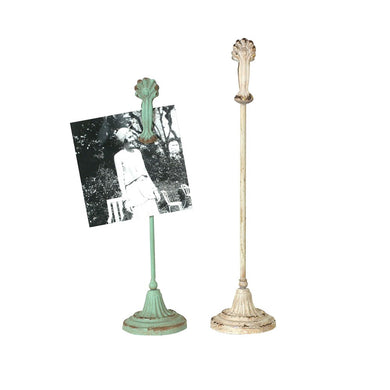 Ornate Metal Clips on Stands, Set of 2