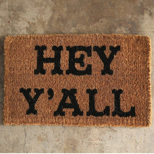 Hey Y'all Natural Coir Doormat