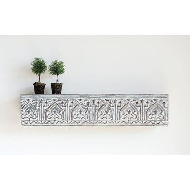 Embossed Metal Wall Shelf