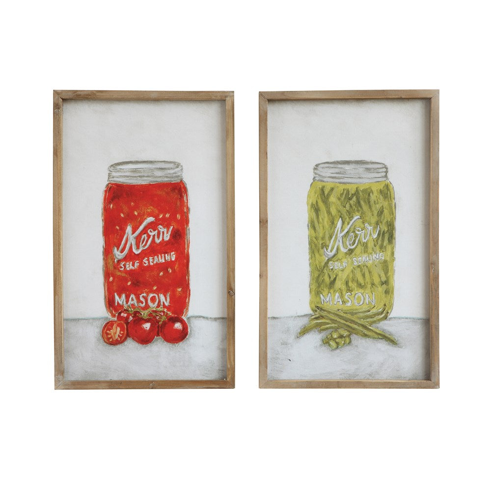 Mason Jar Wall Décor, Set of 2