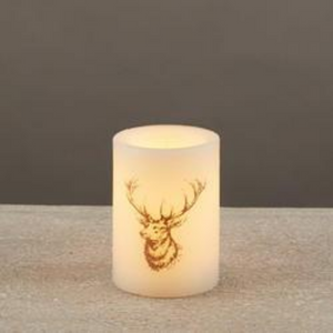 Deer Head LED Pillar Candle