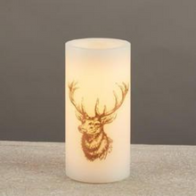 Load image into Gallery viewer, Deer Head LED Pillar Candle