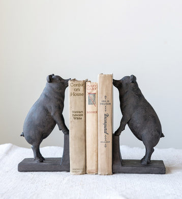 Standing Pig Bookends