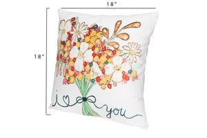 Spring Floral Pillows, Set of 2