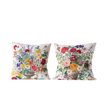 Load image into Gallery viewer, Embroidered Flower Pillows, Set of 2