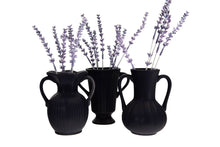 Load image into Gallery viewer, Matte Black Vases Set of 3
