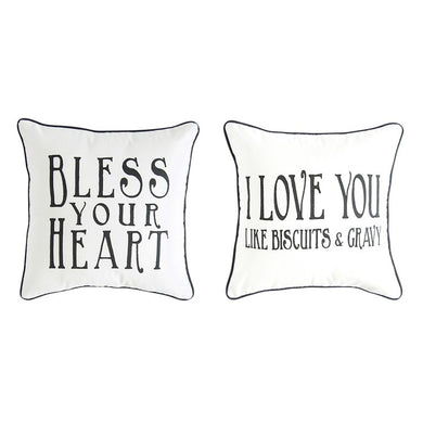 Cotton Pillows with Southern Sayings, Set of 2
