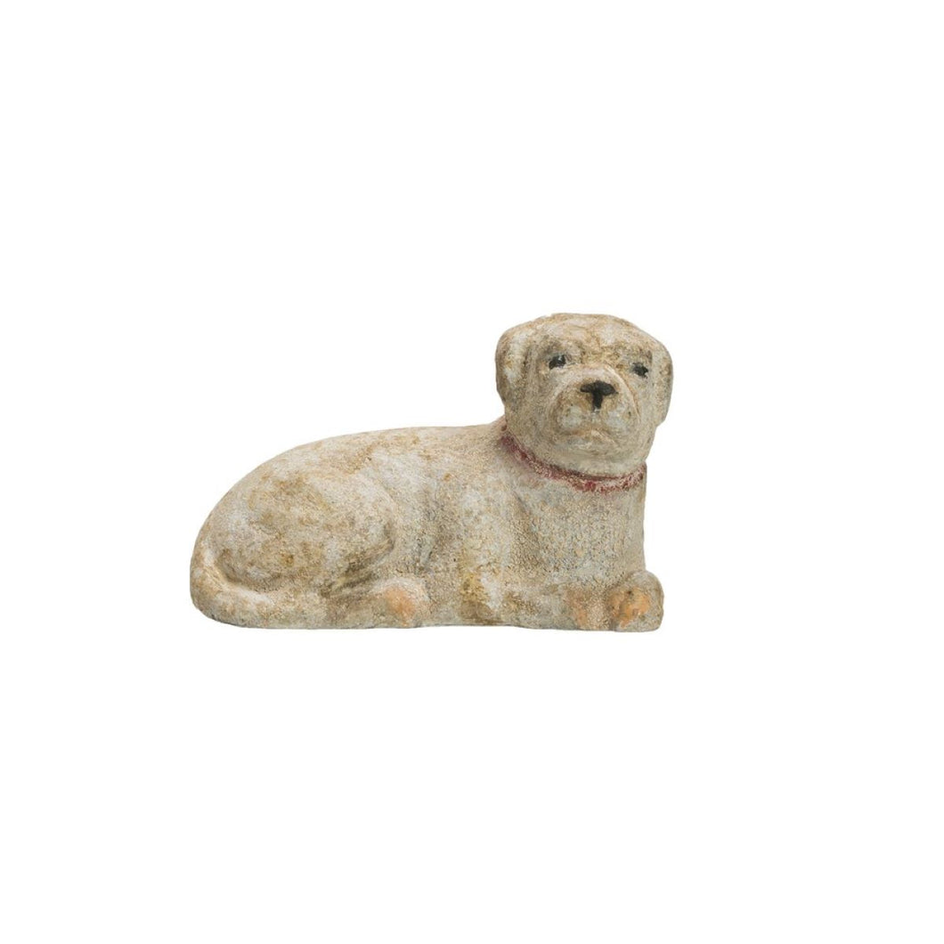 Weathered Dog Figure Posing