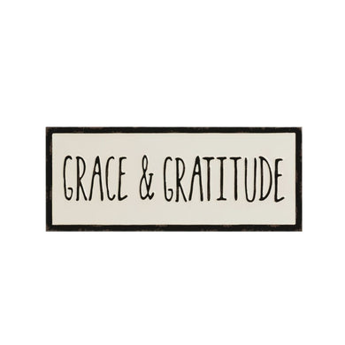 Embossed Enamel Grace & Gratitude Sign