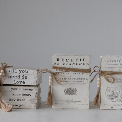 Oversized Vintage-Style Book Blocks