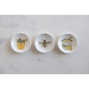 Stoneware Honey Dishes, Set of 3