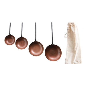Metal Scoops w/ Forged Handles, Set of 4