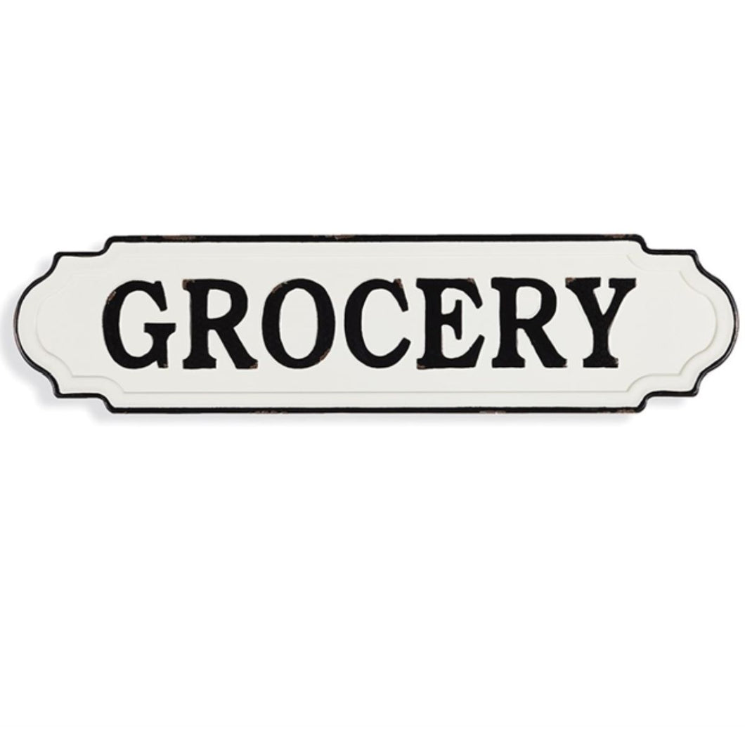 Enamel Grocery Sign