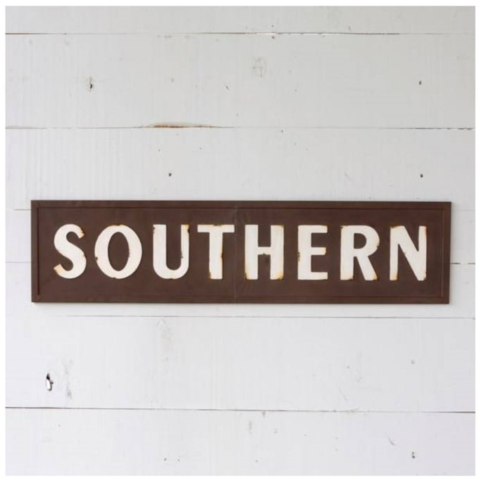 Embossed Southern Sign