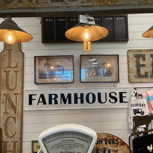 Embossed Farmhouse Sign