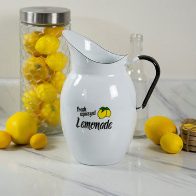 Enamelware Lemonade Pitcher
