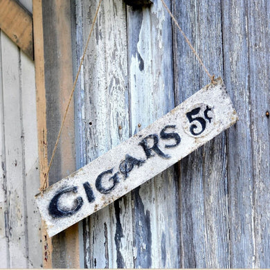 Cigar 5 Cents Sign