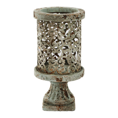 Aged Cement Candle Holders