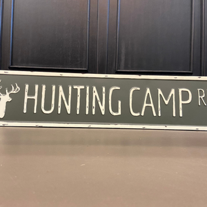Hunting Camp Rd Sign